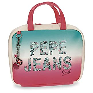 Pepe Jeans Nicole Neceser de Viaje, 25 cm, 5.5 Litros, Multicolor