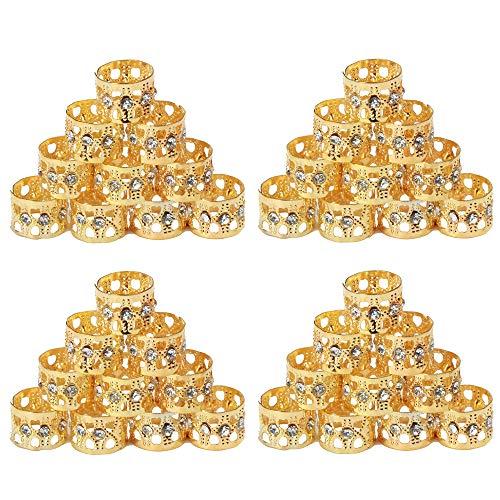 Tresse de 40 pièces Perles 8 mm en métal poignets Décoration de cheveux tressage Bijoux de cheveux