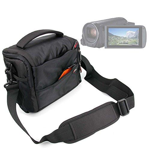 DURAGADGET Gepolsterte Tasche für Camcorder Canon Legria HF R806| HF R86| HF R88| SEREE hdv-s38| hdv-s14| hdv-520| Pyrus C6| PY24–mit Griff und Schulterriemen verstellbar