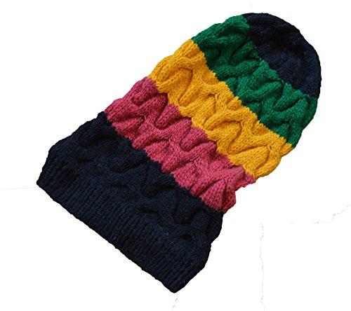 New Original große Hand Made Wolle Rasta Kabel Knit Hat Bob Marley