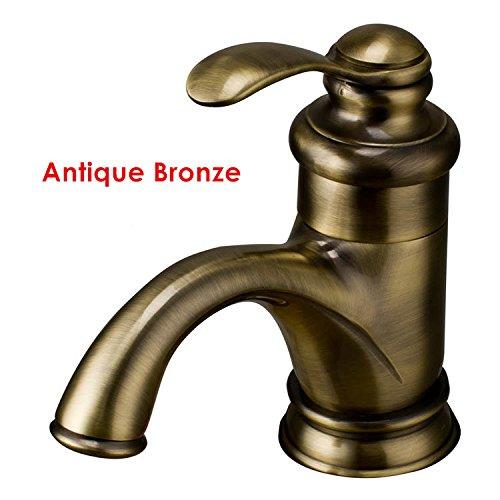 Maifeini Classic Rot Kupfer Waschtischmischer Chrom Goldenes Waschbecken Wasserhahn Messing Antik Messing Tippen, Pralinen. -