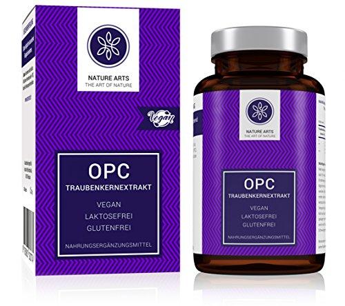 OPC Traubenkernextrakt   120 Kapseln im 2 Monatsvorrat   Hergestellt in Deutschland   Vegan   Frei von Zusatz- und Konservierungsstoffen   Laborgeprüft