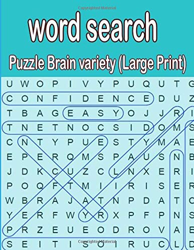 word search puzzle Brain variety (Large Print): Word Puzzle Book for Adults: Ultimate Word Puzzle Book ,word search puzzle Brain variety (Large Print) por ja kiw