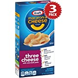Kraft Macaroni au Fromage Three Cheese - Multipack de 3 (3x206g)