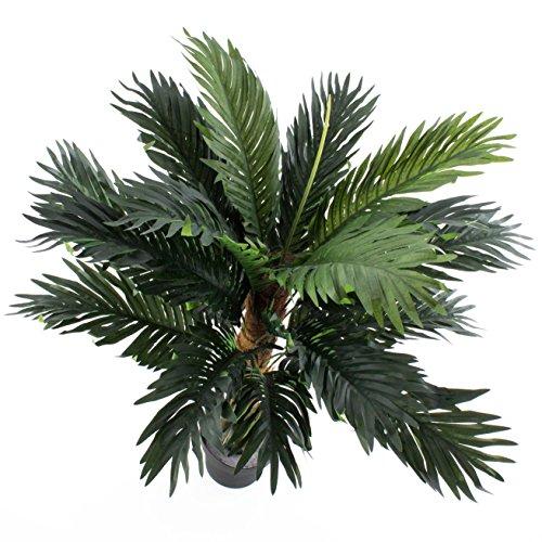 artplants Künstliche Kokospalme Kaleb mit Palmfaserstamm, 90 cm – Kunstpalme