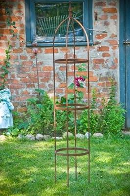 Rankgerüst 10mm Massiveisen! Obelisk Blumenhilfe 160cm Rankgitter von kuheiga - Du und dein Garten