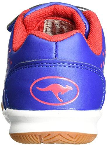KangaROOS Vander Court V, chaussons d'intérieur mixte enfant Blau (Royal/flame red)