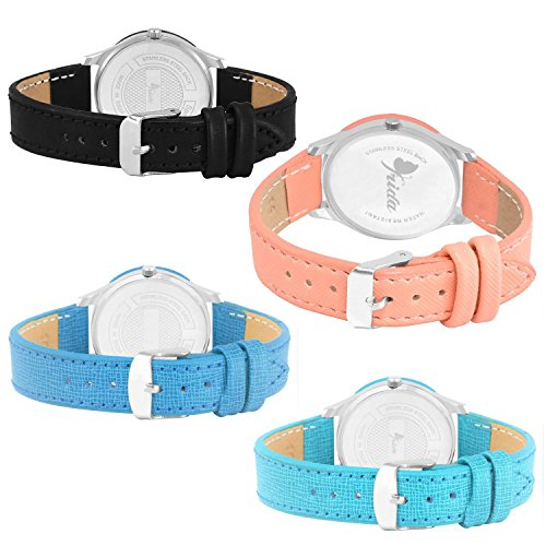 Frida Attractive Designer Set of 4 Watch Combo for Woman and Girls