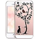 OOH!COLOR Coque pour iPhone 5 iPhone 5S iPhone Se en Silicone Femme Transparente Case...