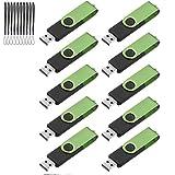 TEWENE USB Stick,10 Stück 4GB USB 2.0 Speicherstick (Grün)