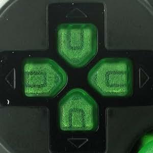 Lot de bouton Vert transparent pour manette PS3