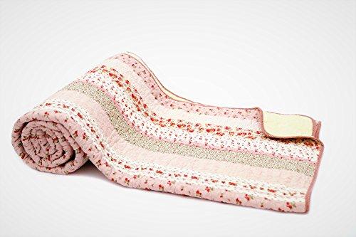 1001Wohntraum 17jn20Quilt Greta rosas, 220x 230cm, Plaid Colcha Vintage Shabby, Rústico, color rosa