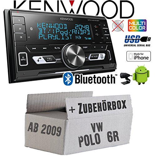 VW Polo 6R - Autoradio Radio Kenwood DPX-M3100BT - 2-Din Bluetooth USB VarioColor Einbauzubehör - Einbauset