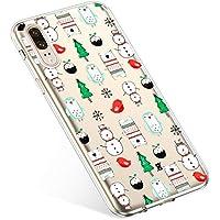 Uposao Handyhülle Huawei P20 Schutzhülle Silikon Transparent Durchsichtig Handyhülle Schutzhülle TPU Dünn Handytasche Etui Case Cover,Schneemann Baum