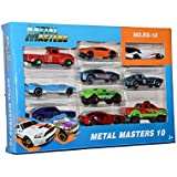 Sanyal Metal Master Cars of Different Colourful & Models, Fun to Play with 10 Different Models in one Set