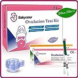 Babycolor 50 Test di ovulazione (20mIU/ml) ultrasensibili & 20 Test di Gravidanza (10mIU/ml) ultrasensibili (50 LH + 20 HCG) + 70 × Tazza di urina
