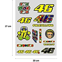 PEGATINA STICKER ADESIVO AUFKLEBER DECALS AUTOCOLLANTS VALENTINO ROSSI PLIEGO ( 27 cm x 20 cm ) 16 unidades REF1