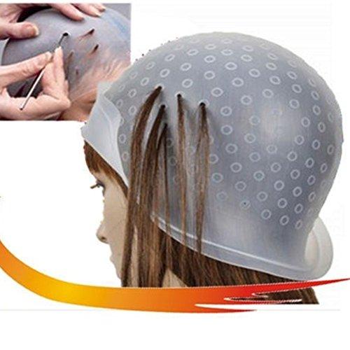 Silicone capelli Evidenziazione Cap, salone professionale riutilizzabile per colorazione capelli Evidenziazione Dye Cap uncino glassa Tipping Hair styling Tools