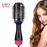 Salon One-Step Hair Asciugacapelli e Volumizzante, 3 in 1 Spazzola Rotante per...