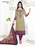 SGS Printed Cotton Unstitched Regular Fi...