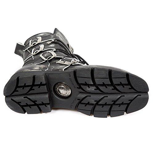 New Rock M.1473-S47 Alle Stiefel aus Leder Black