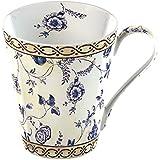Creative Tops 1-Piece Fine Bone China V&A China Mug in a Gift Box Georgian Trail, Cream