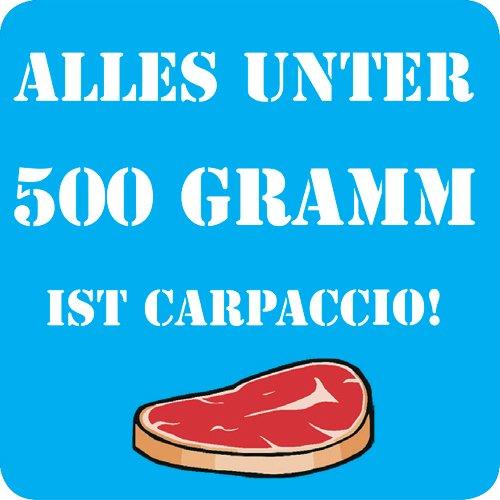 Bierdeckel 15 Stück +++ LUSTIG von modern times +++ ALLES UNTER 500 GRAMM IST CARPACCIO -...
