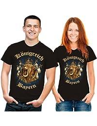 Königreich Bayern Löwen T-Shirt schwarz gold blau XL