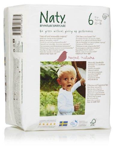 Naty by Nature Babycare Ökowindeln - Größe 6 (16+ Kg), 4er Pack (4x 18 Stück)