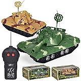 Omiky® 360 ° drehen RC Panzer Fernbedienung Militär Kampfpanzer Spielzeug mit LED-Licht für Kinder (Grün)