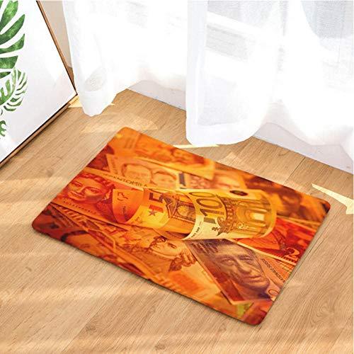 Asbjxny Dollar-Fußmatten-Bad-Matten-Badezimmer-Wolldecken-Küchen-Wolldecken für Inneneinrichtung JHY1250