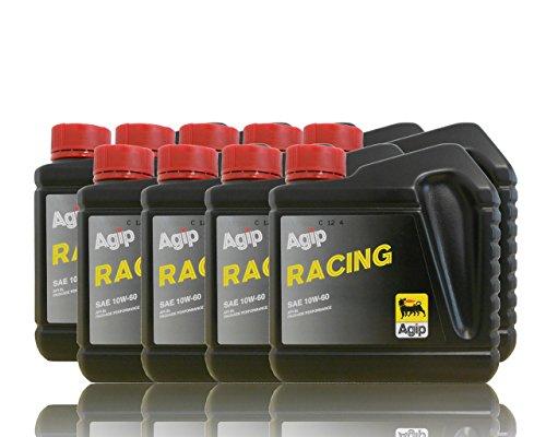 Agip Racing huile de moteur SAE 10 W 60 de 9 x 1 L