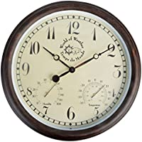 Fallen Fruits Horloge thermomètre hygromètre extérieure 37x6.5cm