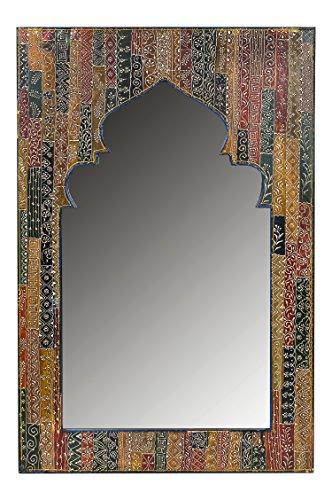 Oriente espejo pared Tarana 90 cm altura Multicolor