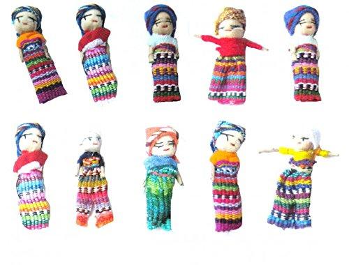 Muñecos quitapenas (10 unidades, tamaño grande) worry dolls