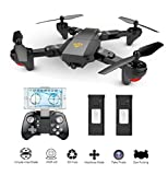 MKT XS809 Pliable Drone FPV wifi Mini Quadcopter VR Télécommande HD en direct Caméra (2MP Caméra, Noir)