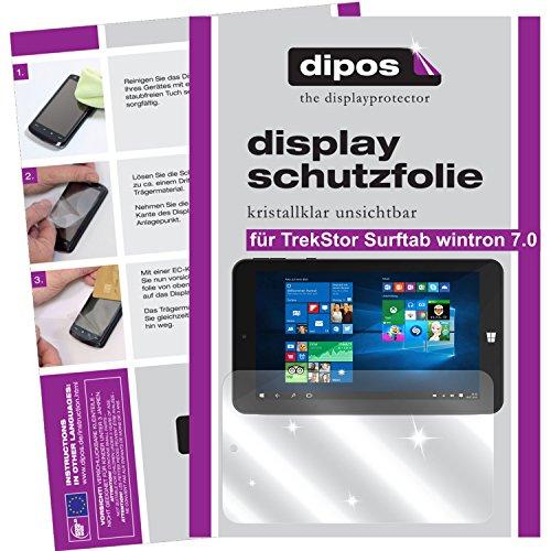 dipos I 2X Schutzfolie klar passend für TrekStor Surftab wintron 7.0 Folie Bildschirmschutzfolie