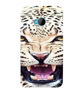 PrintVisa Leopard Animal Design 3D Hard Polycarbonate Designer Back Case Cover for HTC One M7
