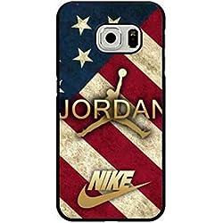 Air Jordan Carcasa de silicona, Jordan logo Carcasa de silicona para Samsung Galaxy S7Edge, NBA Bulls Michael Jordan 23móvil para Samsung Galaxy S7Edge