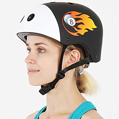 Infantastic Kids' Bicycle Bike Safety Helmet Adjustable Boys' Girls' Cycling Skating Scooter Children's Head Protection - Choice of Size/Design (Billa Design, M) from FF-Europe