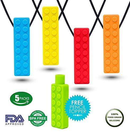 Halskette Kauen Beißringe - Food Grade Silikon Chewing 100% BPA-Frei für ADHS, Kinderkrankheiten, Autismus, Beißring für Kinder