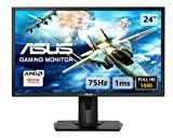 Asus VG245H Monitor Gaming 24'' FHD (1920 x 1080), 1 ms, fino a 75 Hz, HDMI, D-Sub, Super Narrow Bezel, FreeSync via HDMI, Low Blue Light, Flicker Free