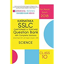 Oswaal Karnataka SSLC Question Bank & Complete Solution Solved Paper with Toppers Ans. Class 10 Science - 2018 Exam