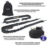 Premium Jogging-Leine | Sichere Metall-Komponenten | Umweltfreundliche Verpackung | Softer Neopren-Bauchgurt | 2 Gratis Booklets | Pets'nDogs - 3