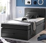 HAWAII Boxspringbett 120x200cm Bett Komfortbett Einzelbett Kinderbett Anthrazit, Ausführung:Variante 3