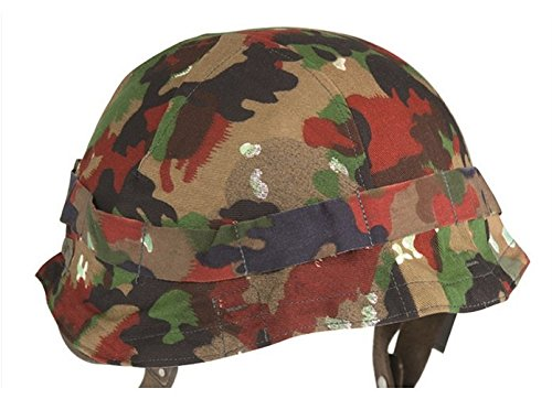 Swiss army surplus ALPENFLAGE camouflage helmet cover
