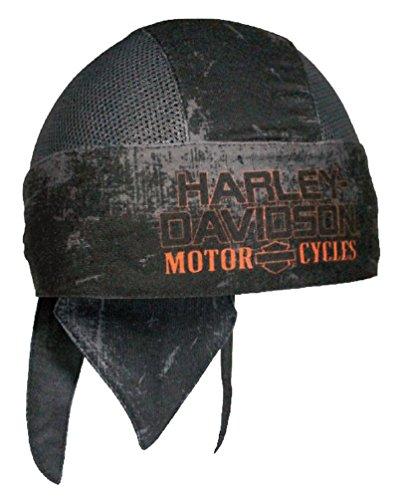 Harley Davidson Mens Charcoal Sublimated H-D Head Wrap, Distressed Black HW51681
