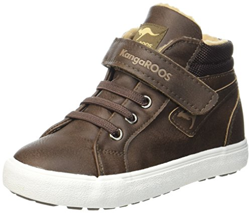 KangaROOS Unisex-Kinder KaVu III High-Top, Braun (dk Brown/Sand 343), 23 EU
