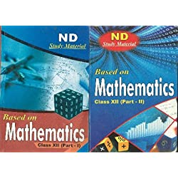NCERT SOLUTIONS BASED ON MATHEMATICS CLASS XII (PART-1 AND PART-2) 2 BOOK SET