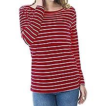 4befcd24f Lonshell Camisa De Maternidad De A Maternidad Embarazo Rayas De Enfermería  Tops De Enfermería Camiseta De